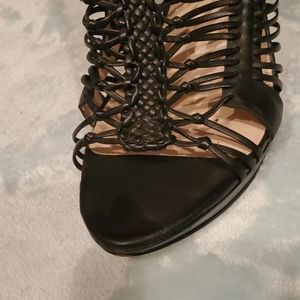 Caged Leather Sandals